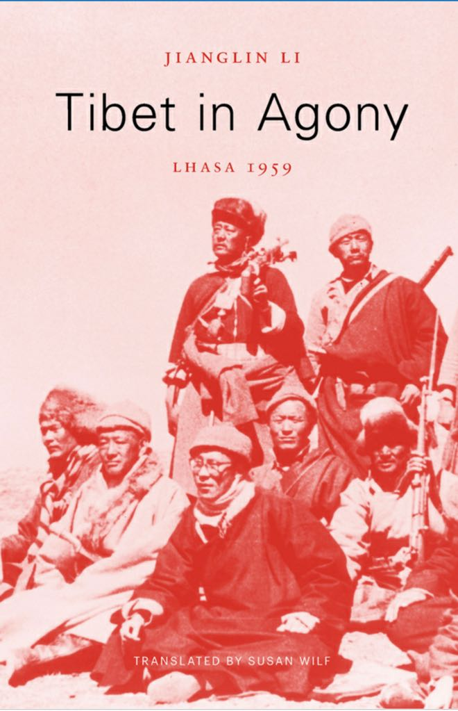 Tibet nella copertina del libro di agonia