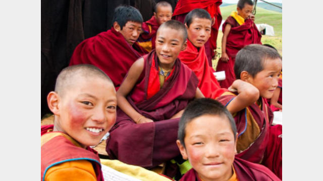 bambini tibetani
