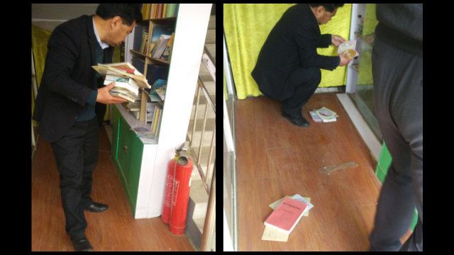 Funzionari confiscano i materiali relativi al Maestro Chin Kung