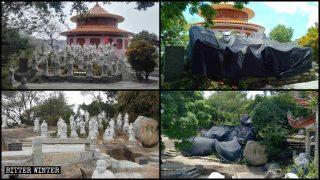Ai templi buddhisti viene ordinato di nascondere centinaia di statue che stavano all'aperto