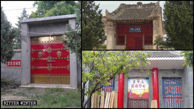 I templi nella città di Fengming sono stati convertiti in centri di attività culturali e centri di attività per anziani