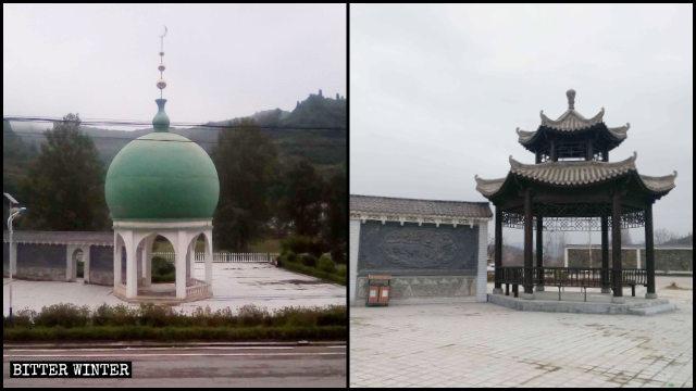 La cupola che si trovava nella piazza islamica di Dongguan è stata trasformata in un padiglione in stile cinese