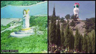 Altre statue buddhiste distrutte nei cimiteri e nelle zone panoramiche